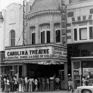Historic Carolina Theatre 1975 Marquee